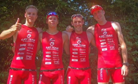 Team von Krefeld von links nach rechts: Marian Kraemer, Jonas Hoffmann, Daniel Knoepke, Marco Mühlnikel