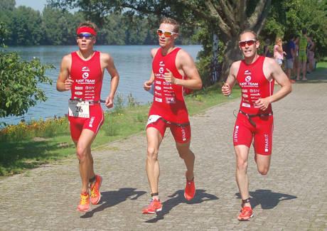 Lauf von links nach rechts: Jonas Hoffmann, Marian Kraemer, Daniel Knoepke