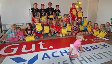 Siegerehrung beim vierten internen  Kinder- und Jugend Duathlon des TVG Buschhütten. Foto: Verein
