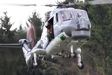 """U-Boot-Jäger der Bundesmarine im Landeanflug: Seeziele zu bekämpfen gab es für die """"Sea Lynx"""" auf der """"Hub"""" allerdings nicht. (Foto: Christoph Holighaus)"""