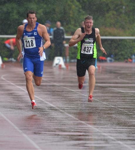 Thomas Blech beim 100m-Lauf.