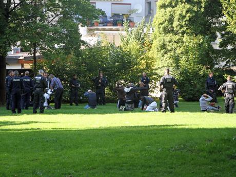 Polizei-Großrazzia-Siegen-Oranienpark