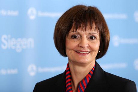 Dr. Bettina Wolf, Vorsitzende der Geschäftsführung der Arbeitsagentur Siegen.