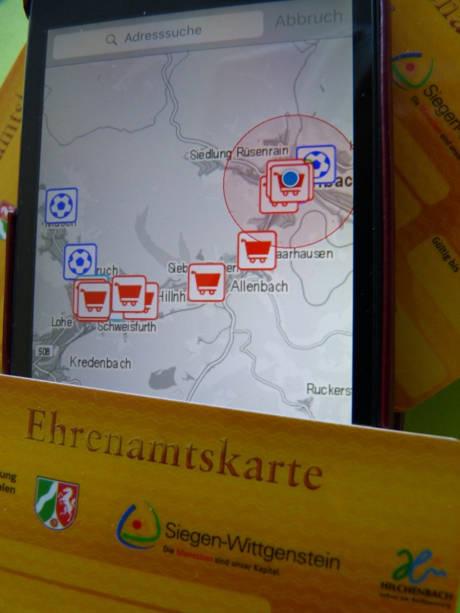 Vergünstigungen auf einen Blick mit der neuen App Ehrensache.NRW. (Foto: Stadt Hilchenbach)