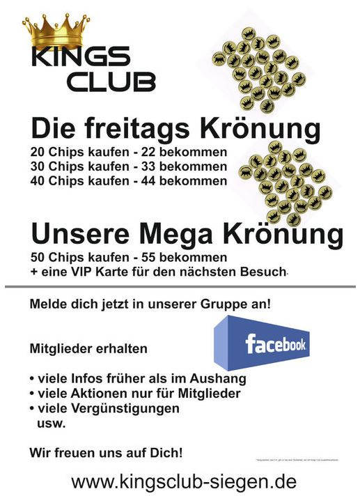 2015-10-08_Siegen_Kings Club_Freitags Krönung_Werbung_Plakat