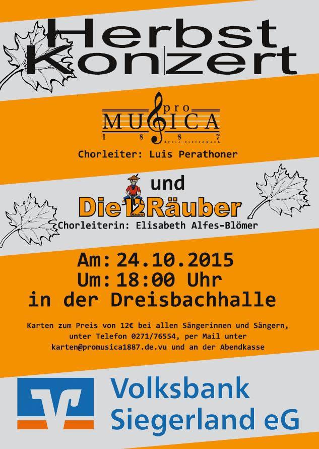 2015-10-14_Netphen_Herbstkonzert des Chores ProMusica1887 Dreis-Tiefenbach_Plakat Chor