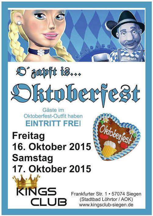 2015-10-16_Siegen_Kings Club_Oktoberfest_Werbung_Plakat