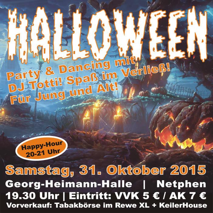 2015-10-19_Netphen_Halloween Dance-Party in Netphen_Plakat_Veranstalter