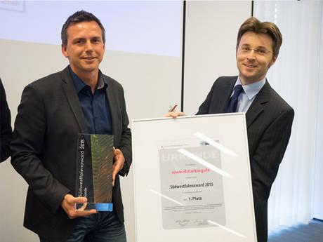 """Zahnarzt-Website aus der Hand von """"dievirtuellecouch"""" holt den 1. Platz in der Kategorie """"Kunde"""". (Foto: Wolfgang Detemple)"""