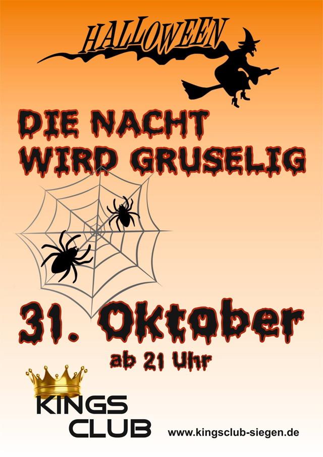 2015-10-31_Siegen_Kings Club_Plakat Halloween_Plakat Kings Club