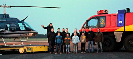 Feuerwehr bedankt sich bei Nachwuchskräften mit Rundflug.
