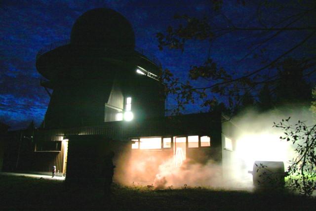 "Exercise - Exercise - Exercise"": Feuer an der Radargerätestellung auf dem Ebschloh. (Foto: Peter Hanke)"