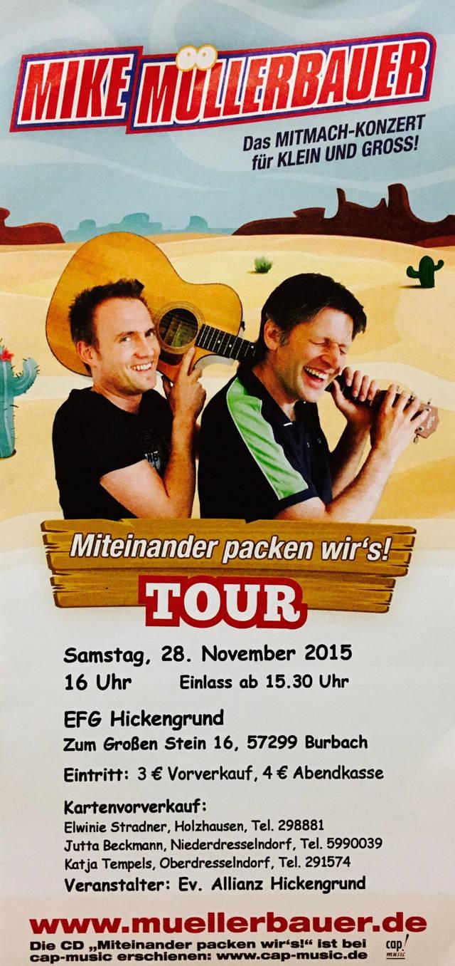 2015-11-19_Burbach-Holzhausen_Konzert Mike Müllerbauer in der FEG_Plakat_Veranstalter_1