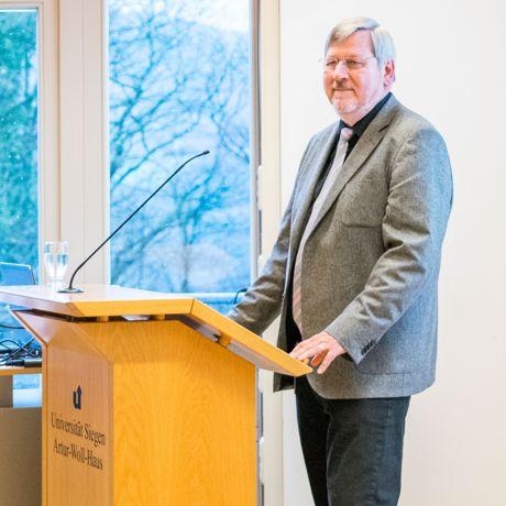 Werner Reinhardt bei seiner Rede.