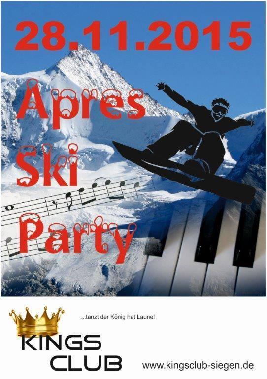 2015-11-25_Siegen_Apre Ski Party im Kings Club Siegen_Plakat_Veranstalter
