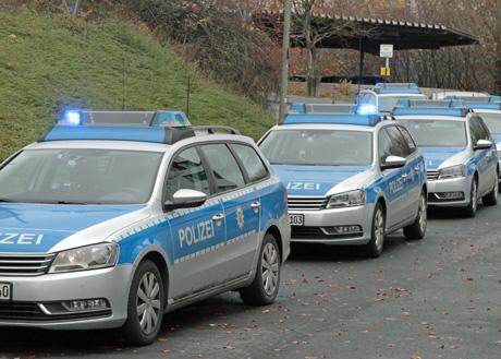 Polizei-Einsatz an der Flüchtlingsunterkunft in Siegen. Archiv-Foto: wirSiegen.de