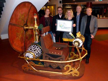Mit der Präsentation des Vereinslogos im Viktoria-Kino startete der Bürgerverein am 25. November seine Mitgliederwerbung. (Foto: Verein)