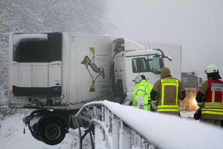 A45-LKW-Unfall
