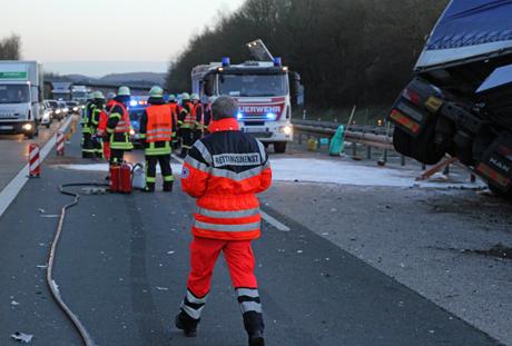 LKW-Unfall-A45-Freudenberg7