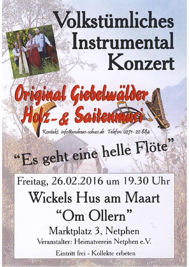2016-02-22_Netphen_Giebelwälder Holz und Saitenmusikanten_Plakat_Veranstalter