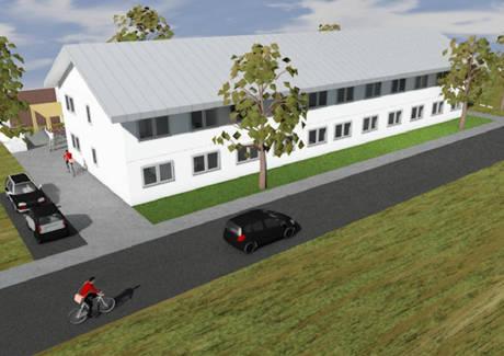 Neubau einer Unterkunft für 60 Flüchtlinge in Buschhütten. (Grafik: Stadt Kreuztal)