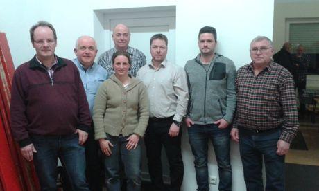 Der Vorstand des Heimat- und Bürgervereins Wilden in 2016: v.l.n.r.: Andreas Klement, Friedhelm Vitt, Tina Dax, Eberhard Klein, Marco Schneider, Rene Stolz, Lothar Kapp