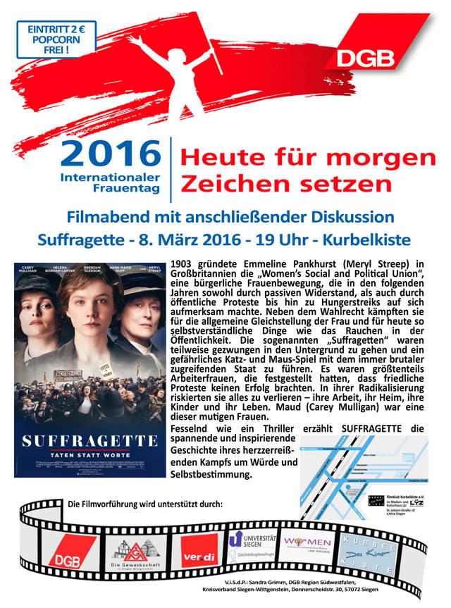 Plakat: ver.di Bezirk Siegen-Olpe