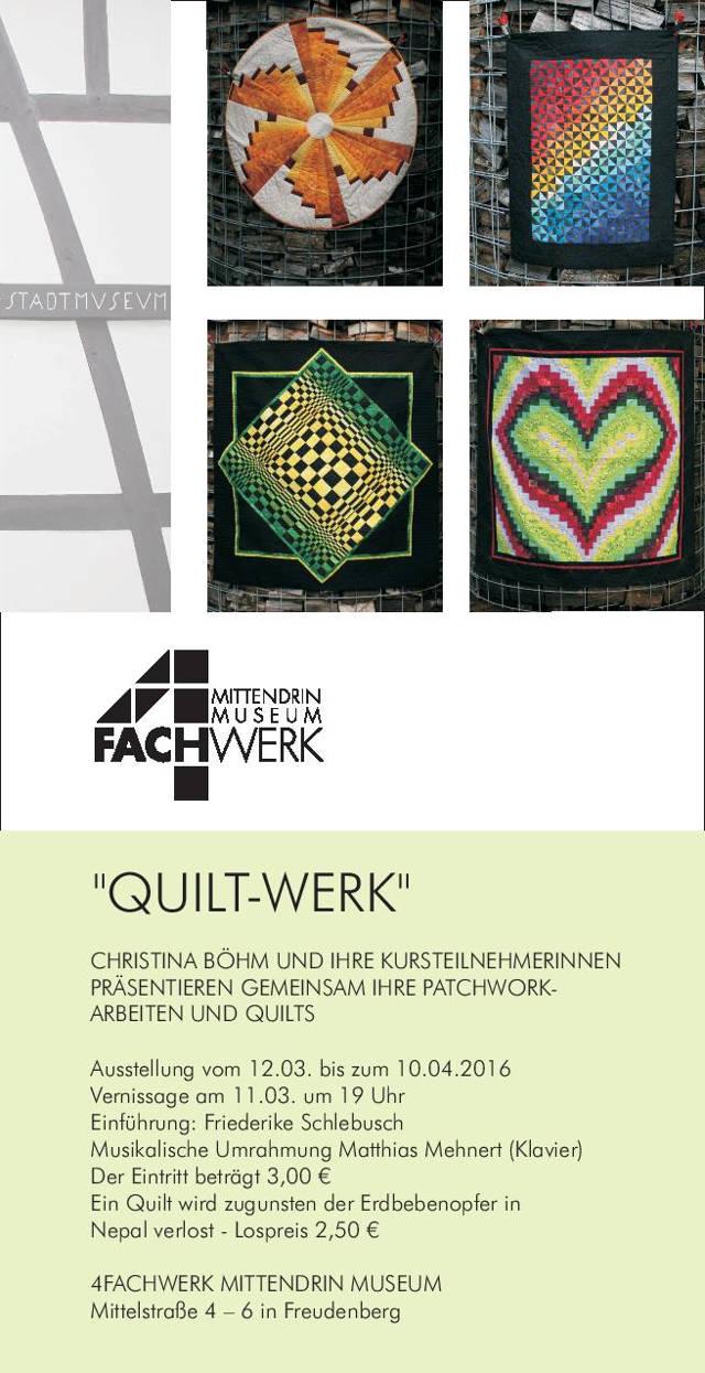 4fachwerk museum pr sentiert die ausstellung quilt werk. Black Bedroom Furniture Sets. Home Design Ideas