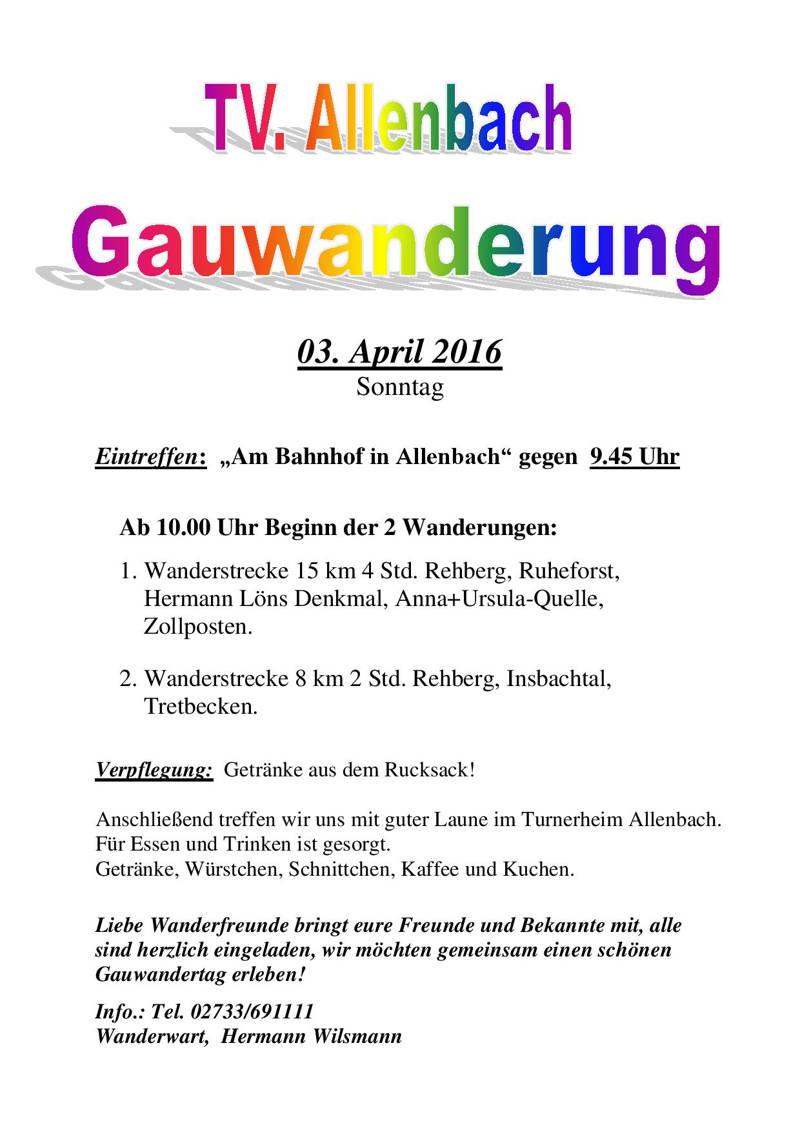 2016-03-28_Hilchenbach_TV Allenbach Wanderung_Plakat_Verein