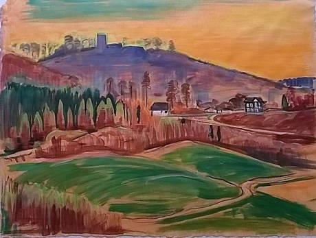 Eines der von Lothar Grisebach geschaffenen Gemälde (Foto: Stadt Hilchenbach)