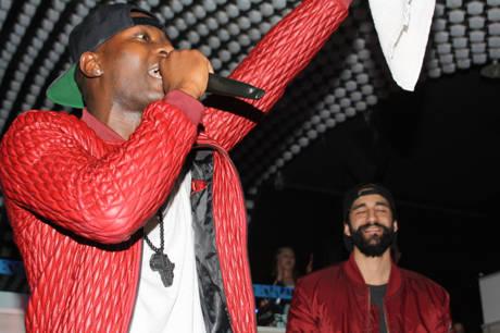 "Rapper Benson ""Theafricanboi"" mit Arni Beatz."