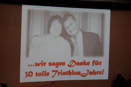 """Ein letztes """"Danke"""" von Sabine und Rainer Jung für 30 Jahre Triathlon"""