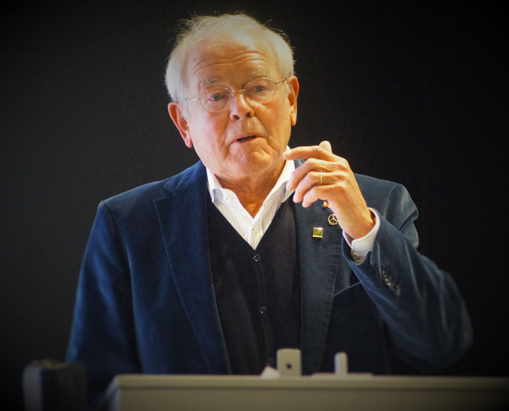 Manfred Utsch (80) blickte in die Zukuft seiner Sportfreunde.