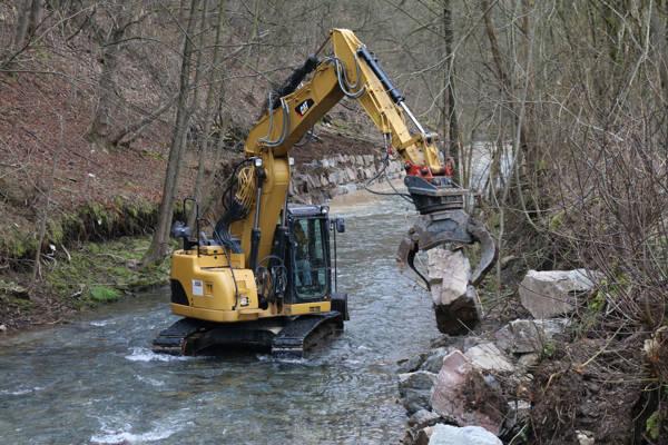 Bei dieser Baumaßnahme wurden rund 2.500 Tonnen Steine bewegt.