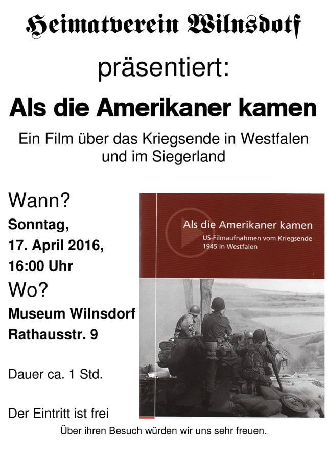 2016-04-16_Wilnsdorf_Film Als die Amerikaner kamen_Plakat Heimatverein Wilnsdorf