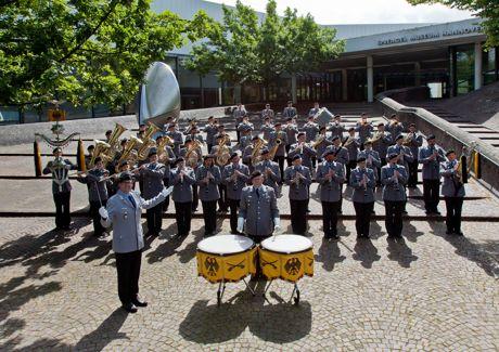 Das Heeresmusikkorps Hannover gibt ein Konzert in Siegen.