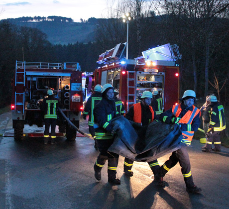 Feuerwehreinsatz-Schemder
