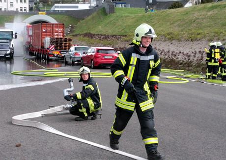Rettungskräfte-Übung