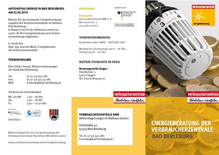 2016-05-05_Bad Berleburg_Verbraucherzentrale berät Energiesparer im Rathaus Bad Berleburg_Flyer_Veranstalter_01