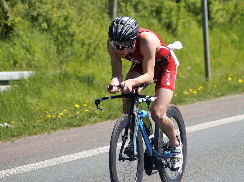 Das Radfahren warf Jonas Hoffmann zurück.