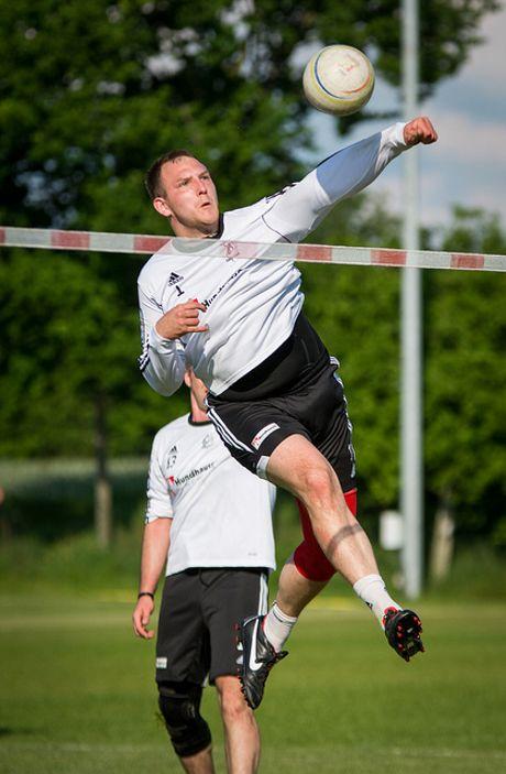 Dahlbruchs Angreifer Mats Eilhoff wusste phasenweise zu überzeugen. (Foto: Verein/Faustballbilder.de)
