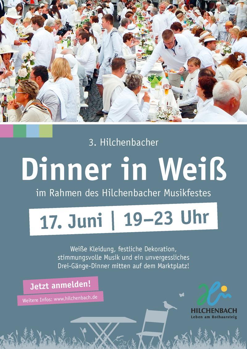 2016-05-13_Hilchenbach_Dinner in Weiß_Plakat_Stadt Hilchenbach