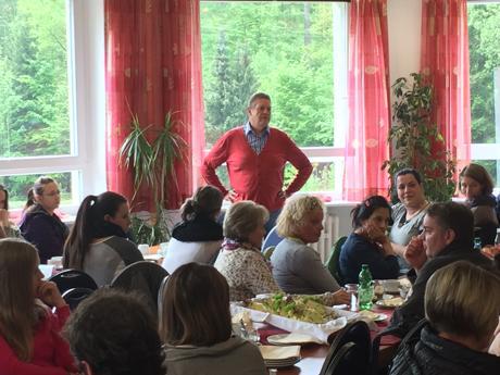 Willi Brase (SPD MdB) besuchte die Streikenden im Streiklokal.