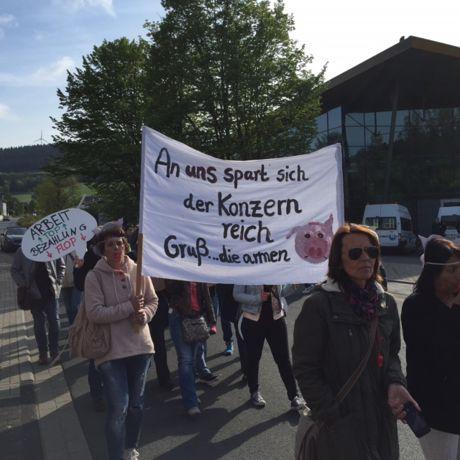 ... und demonstrierten in Hilchenbach.