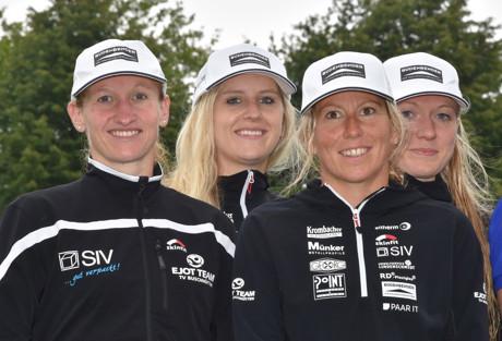 Ellen Knoepke, Dorothea Pieck, Steffi Steinberg und Franzi Maschke (v.li.) erreichten einen guten zweiten Platz. Foto: Hartmut Hoffmann / Verein
