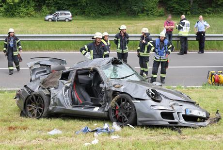 Crash-Porsche