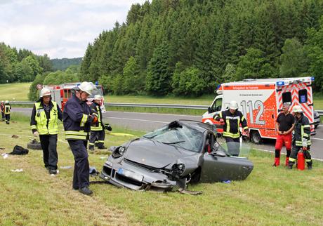 Porscheunfall