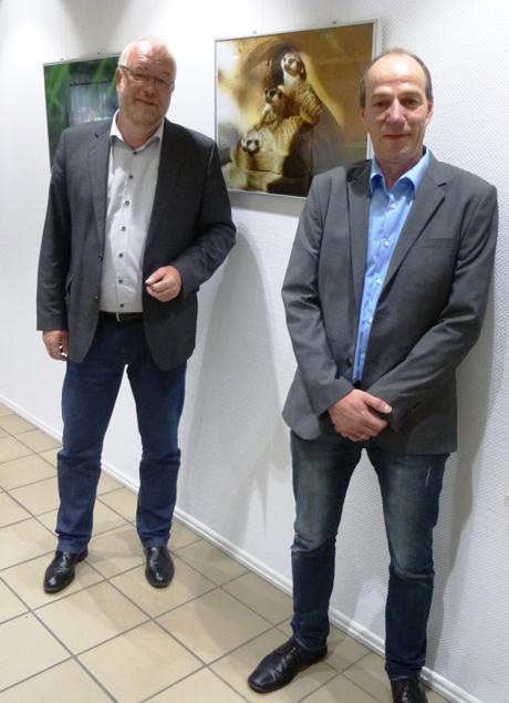 Bürgermeister Walter Kiß und rechts Ralf Melchert