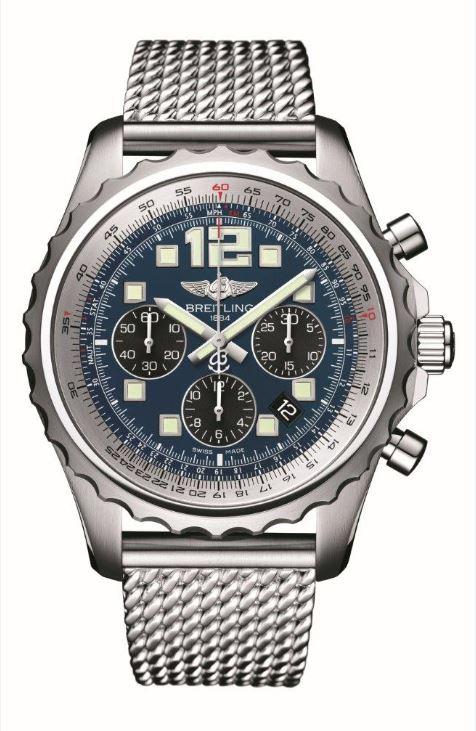 "Gestohlene Uhr ""Breitling Chronospace mit blauem Zifferblatt"" (Symbolfoto)"