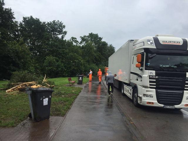 2016-06-25_Wilnsdorf_A45_Blitzeinschlag próxima camión - neumáticos derretidos y defekt_Foto_Hercher_01 Eléctrico